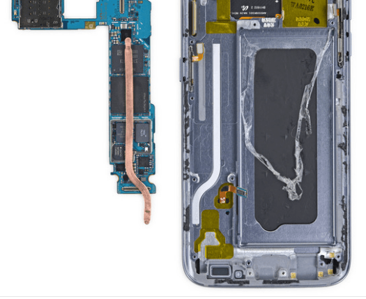 Samsung Galaxy S7 heat pipe
