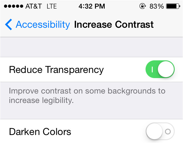 reduce transparency