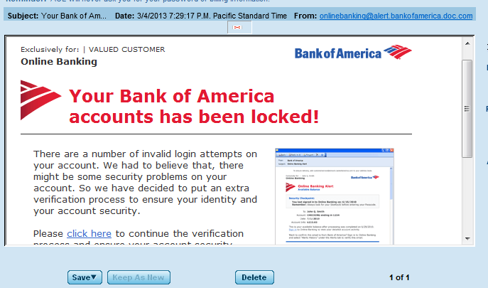 phishing mail scam