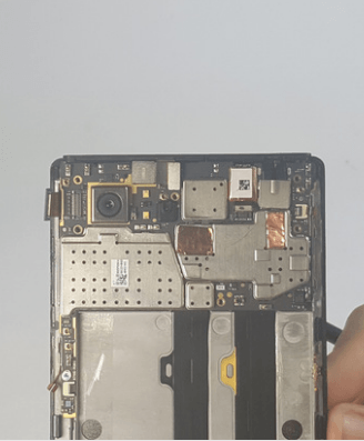 disconnecting the camera connector