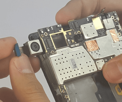 pulling away the motherboard