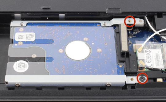 screws holding acer hard drive