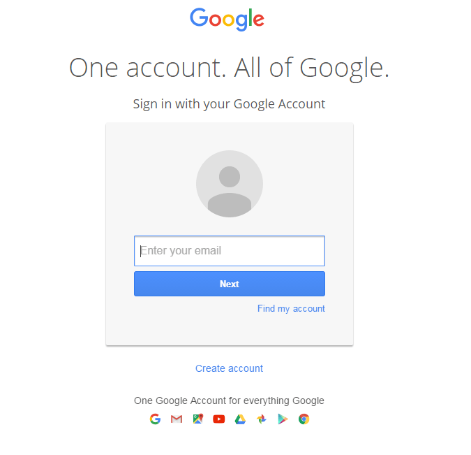 gmail account log in