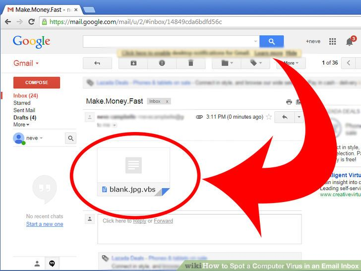Virus emails