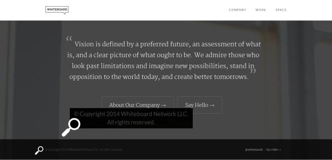 False Website Footer